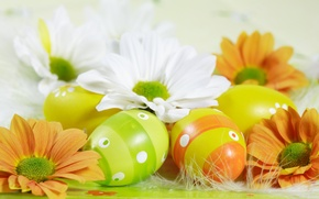 Картинка цветы, яйца, пасха, пасхальные яйца