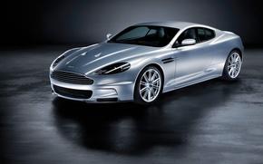Обои Aston Martin, DBS, серебристый