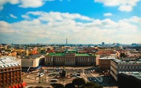 Картинка здания, Питер, Санкт-Петербург, собор, автобус, tilt-shift, миниатюра, тилт-шифт, dobraatebe