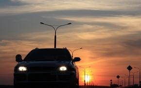 """Обои Impreza, закат, """"скуби"""", Subaru, WRX"""