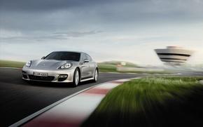 Обои скорость, Porsche, Panamera