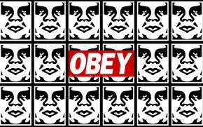 Картинка граффити, OBEY, трафареты, Подчиняйся