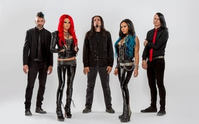 Картинка группа, латекс, металкор, красные волосы, девушки в коже, Хайди Шеперд, девушка с синими волосами, Карла …