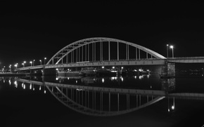 Картинка bridge, night, new, khorramshahr