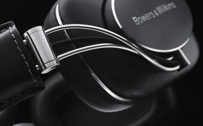 Картинка black, headphone, Bowers&Wilkins