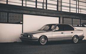 Картинка BMW, Классика, БМВ, E34, BBS, Сбоку