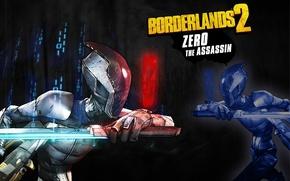 Картинка меч, Assassin, RPG, 2K Games, Borderlands 2, Gearbox Software, Unreal Engine 3, Zero, FPS