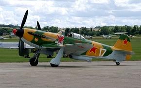 Картинка одномоторный, Як-3, Вов, советский, самолёт-истребитель