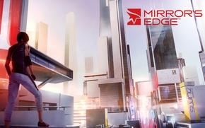 Картинка город, здания, game, DICE, Faith, Mirrors Edge, Mirrors Edge 2