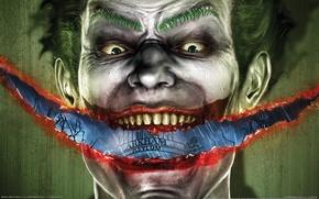 Картинка арт, Batman, Joker, Arkham Asylum