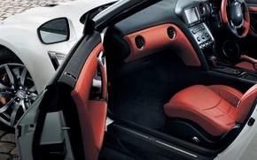 Картинка салон, R35, Nissan GTR