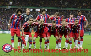 Картинка wallpaper, sport, team, football, FC Bayern Munchen, players
