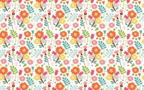 Картинка цветы, узор, весна
