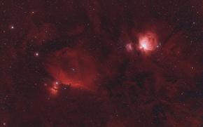 Картинка космос, звезды, туманность Ориона