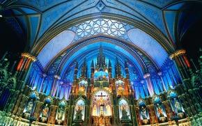 Картинка Канада, Базилика Нотр Дам, Монреаль