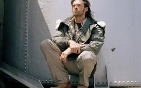Картинка волосы, ботинки, куртка, актер, мужчина, хью джекман, hugh jackman