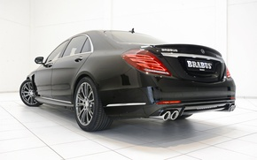 Обои черный, Mercedes-Benz, Brabus, седан, мерседес, Hybrid, брабус, гибрид, S-Klasse, W222, 2015, B50