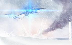 Картинка снег, самолет, Крушение