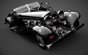 Картинка ретро, фото, Mercedes-Benz, автомобиль, mercedes benz
