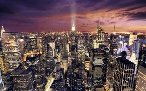 Картинка небо, город, ночной