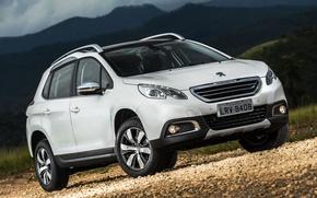 Обои 2008, Peugeot, пежо, паркетник, 2015, BR-spec