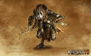 Картинка Might & Magic 7, Герои меча и магии 7, Непокорные племена, Гнолл охотник, Кинжалы