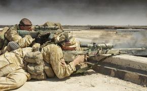 Обои британия, снайпер, на позиции, солдат, винтовка