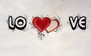 Картинка любовь, абстракция, узоры, сердца, love, patterns, hearts, 1920x1080, abstraction