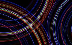 Картинка свет, линии, цвет, дуга, трассы