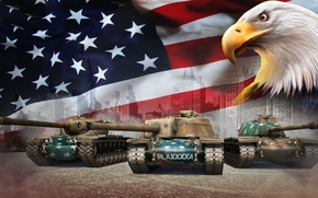 Картинка США, Танки, World of Tanks, Орлы, T57 Heavy