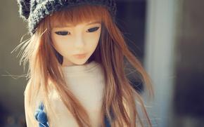Обои девушка, настроение, ветер, кукла, азиатка, BJD, dolls