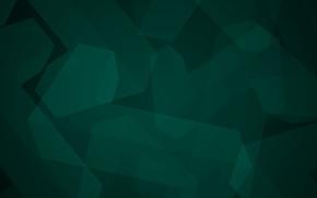 Обои минимализм, Абстракция, фигуры, темно-зеленый, геометрия