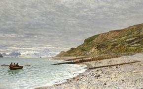 Картинка пейзаж, картина, Клод Моне, The Point of Heve, Honfleur