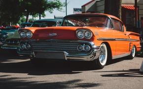 Картинка ретро, Chevrolet, классика, Bel Air, передок