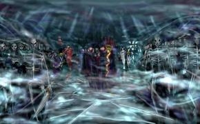 Картинка Армия, Overlord, Нежить, art, Albedo, Mare Bello Fiore, Demiurge, Ainz Ooal Gown, Aura Bella Fiora, …