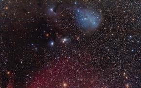 Картинка отражательная, Единорога, в созвездии, туманность, IC 447
