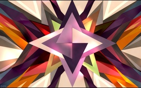 Картинка colors, triangles, forms