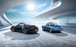 Картинка car, автомобиль, порше, классика, porsche 911 targa s