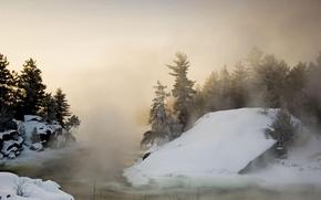 Картинка холод, зима, снег, деревья, природа, пейзажи, красота