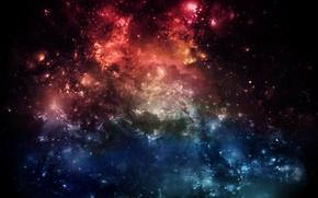 Обои space, галактика, фантазия, fantasy, обои на рабочий стол, картинки для рабочего стола, космос