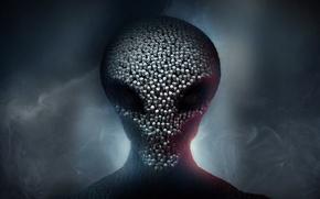 Картинка дым, инопланетянин, черепа, 2K Games, Firaxis, Xcom 2