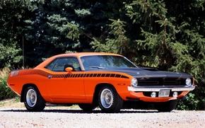 Картинка мускул кар, muscle car, 1970, плимут, куда, plymouth, cuda