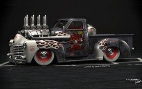 Картинка Car, American Muscle, Hod Rod, Chevrolet 3100