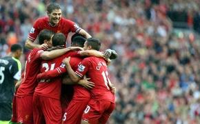 Картинка футбол, Англия, капитан, club, football, Ливерпуль, Liverpool, England, Steven Gerrard, Liverpool FC, YNWA, Стивен Джеррард, …