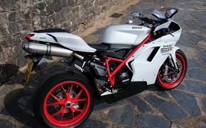 Картинка камни, плитка, вид, мотоцикл, Ducati, дукати, 848