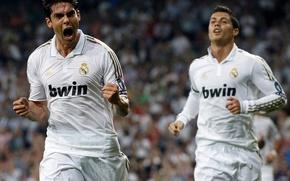 Картинка футбол, real madrid, реал мадрид, football, CR7, C.Ronaldo, Кристиано Роналдо, Рикардо Кака, Ricardo Kaka