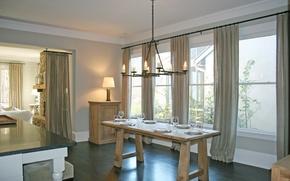 Картинка дизайн, дом, стиль, интерьер, коттедж, столовая, жилая комната