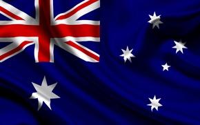 Картинка Австралия, Флаг, Текстура, Australia, Flag, Австралийский Союз