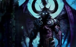 Обои демон, wow, world of warcraft, иллидан, illidan