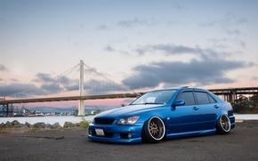 Картинка turbo, lexus, wheels, japan, toyota, blue, jdm, tuning, лексус, front, тойота, face, low, altezza, is200, …
